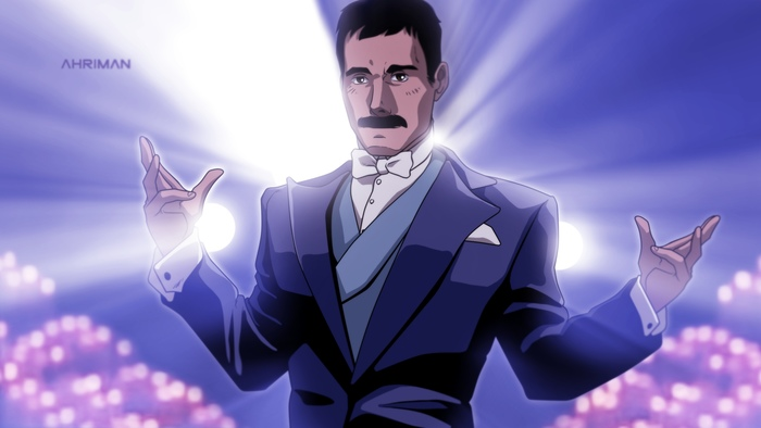 Freddie Mercury в стиле аниме от Ahriman Аниме, Перерисовка, Queen, Фредди Меркьюри, Ahriman, Длиннопост