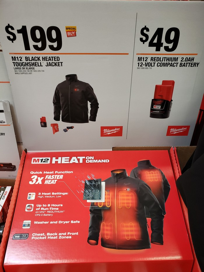 Куртка с подогревом в строительном магазине The Home Depot в Солт Лэйк Сити, США. Куртка с подогревом, Будущее наступило, Длиннопост