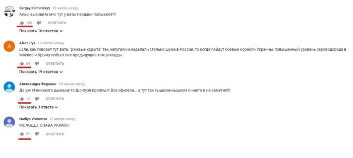 Проход кораблей ВСУ под Крымским мостом как перемога...над центральной нервной системой. Политика, Украина, Мост, Проход, Вмсу, Комментарии, Массовый психоз, Видео, Длиннопост