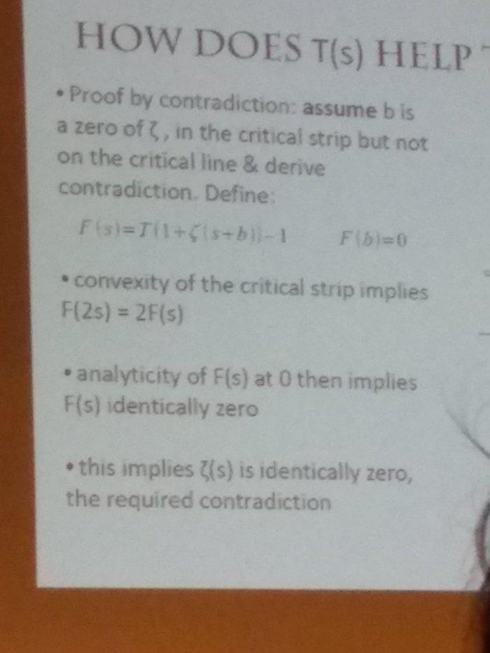 Британский математик представил доказательство гипотезы Римана. Оно занимает 15 строк. Доказательство, Математика, Гипотеза Римана, Скорее всего фейл, Длиннопост