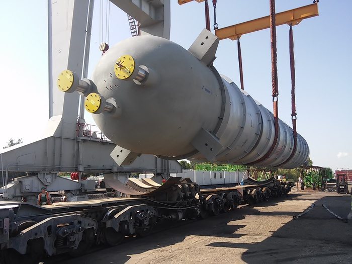 """Проектные перевозки, или """"Нет, это не «Тополь-М»..."""". Часть 2.2 Железная дорога. Как это у нас. Проектные перевозки, Железная Дорога, Негабаритный груз, Атомный реактор, Негабарит, Железнодорожный транспорт, Длиннопост"""