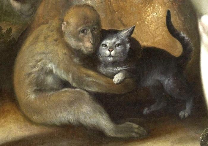 Грехопадение Живопись, Фрагмент картины, Корнелис Ван Харлем, 16 век, Животные