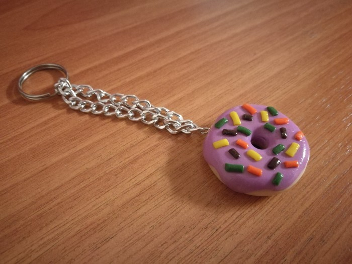 Пончик и мороженка) Полимерная глина, Пончики, Мороженое, Polymer clay, Моё, Длиннопост