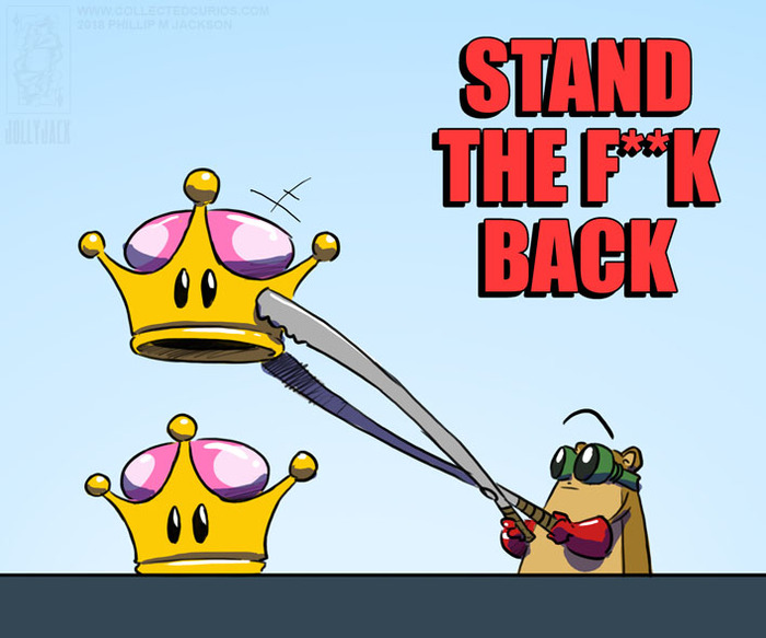 Назад! Bowsette, Bowser, Jollyjack, Супер корона, Юмор, Super Mario, Nintendo, Правило 63