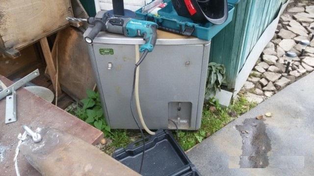 Как пробурить скважину с помощью стиральной машины Бурим, Скважина, Дача, Своими руками, Моё, Видео, Длиннопост