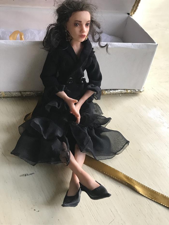 Портретная, стилизованная авторская кукла Авторская работа, Кукла, Подарок, Крипота, Длиннопост