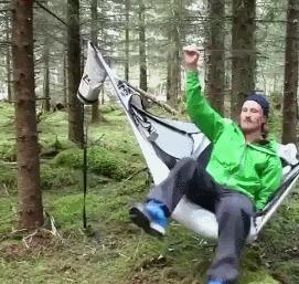 Гамак из палатки