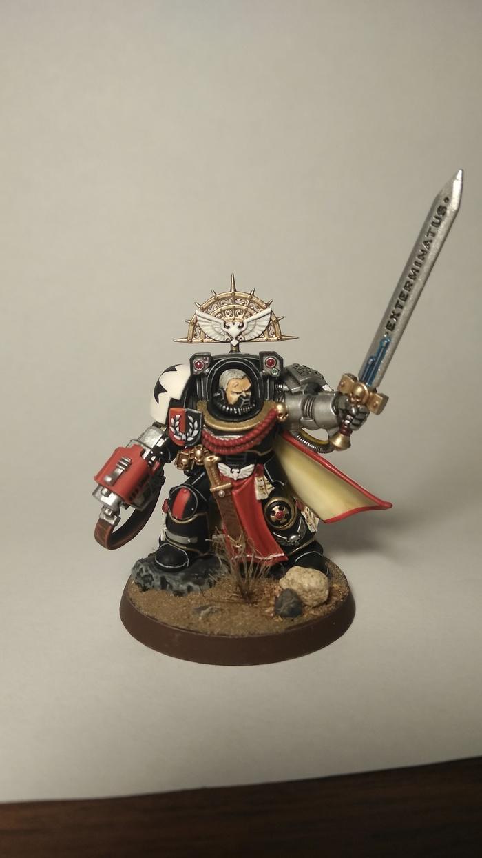 Капитан караула смерти. Wh miniatures, Warhammer 40k, Deathwatch, Миниатюра, Роспись, Длиннопост