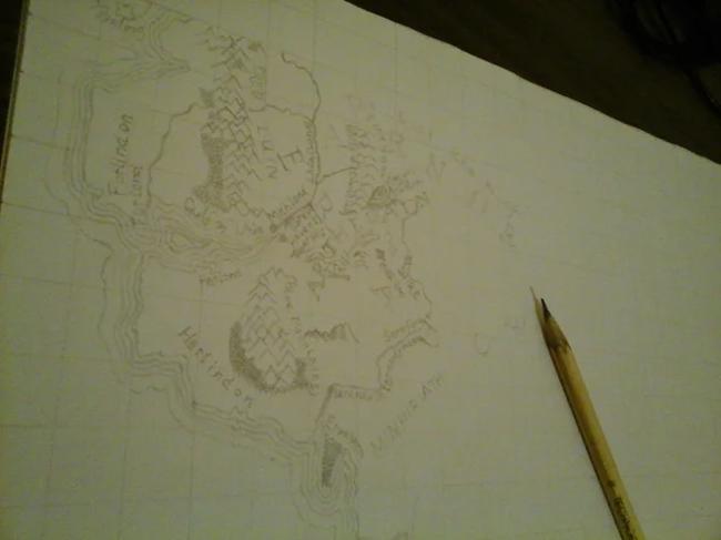 Карта Средиземья Средиземье, Карты, Своими руками, Толкин, Толкиен, Властелин колец, Рисование, Длиннопост
