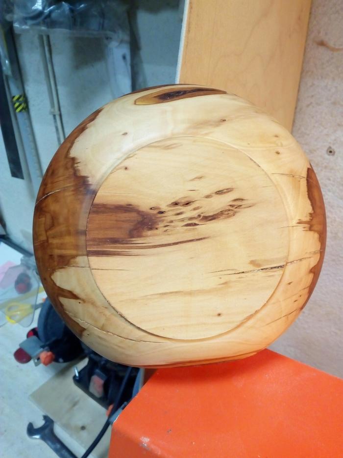 Шкатулка-горшочек-мисочка из яблони. Шкатулка, Изделия из дерева, Своими руками, Рукоделие с процессом, Миска, Токарка, Handmade, Длиннопост