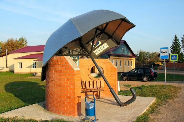 Автобусная остановка в Тверской области