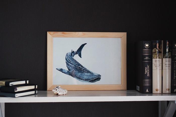 Китовая акула. Акварель. Китовая акула, Акула, Арт, Акварель, Рисунок, Рыба, Морские обитатели