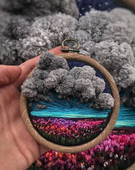 Когда вышивка - просто космос Инстик, Instagram, Вышивка