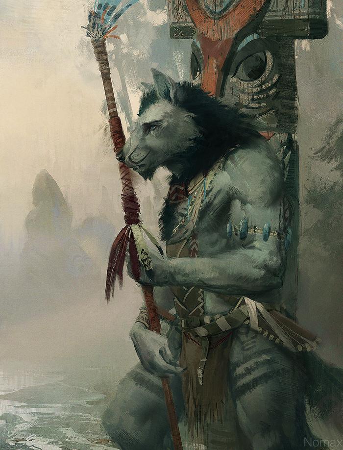 Туманный берег Фурри, Арт, Племя, Nomax