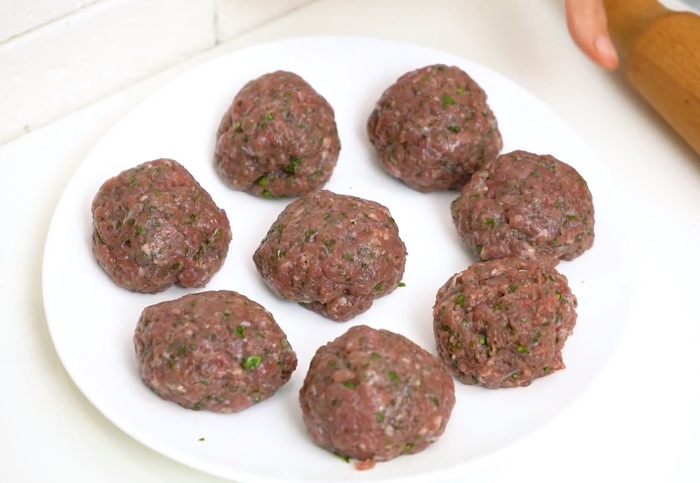 Лепешки с мясом и зеленью Лепешки, Рецепт, Видео рецепт, Кинза, Мята, Фарш, Мясо, Видео, Длиннопост