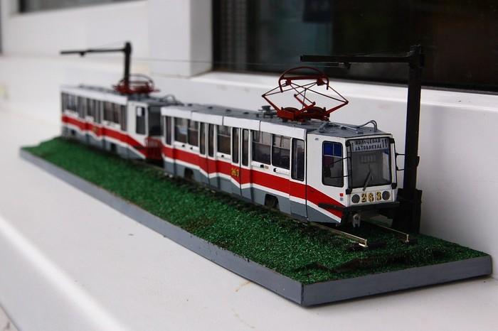 Трамваи, поезда и автобусы из бумаги Моделизм, Хобби, Бумага, Творчество, Тверь, Автомоделизм, Длиннопост