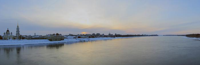 Зимний Рыбинск Рыбинск, Панорама, Зима, Фотография, Волга
