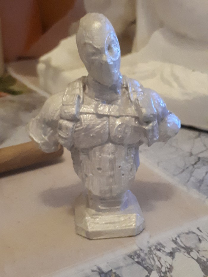 Печать после доработки принтера 3D принтер, Дедпул комиксы, Патина, Длиннопост