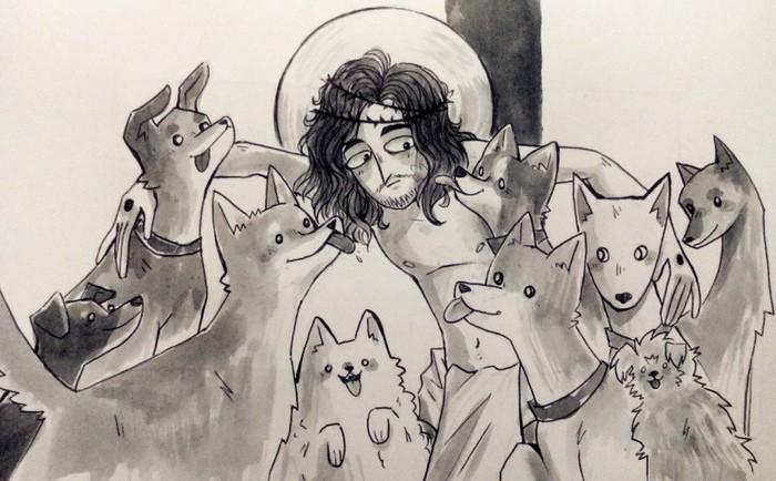 Сотворение мира. Текст, Сотворение мира, Собаки и люди