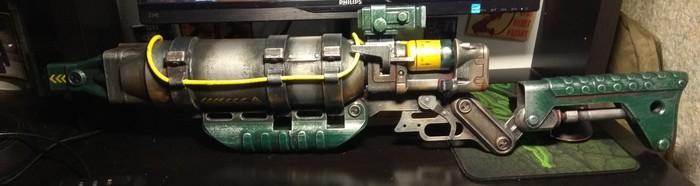 Craft Laser Rifle (Fallout 4) 3d печать, 3D принтер, Fallout 4, Игромир 2018, Comic-Con, Длиннопост