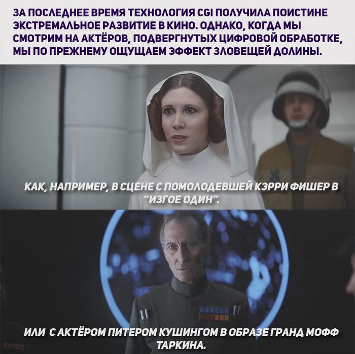 CGI - бессмертие: Искусство и этика. Спецэффекты, Фильмы, Длиннопост, Star Wars, Звездные войны: изгой один, Принцесса лея, Гифка, Видео