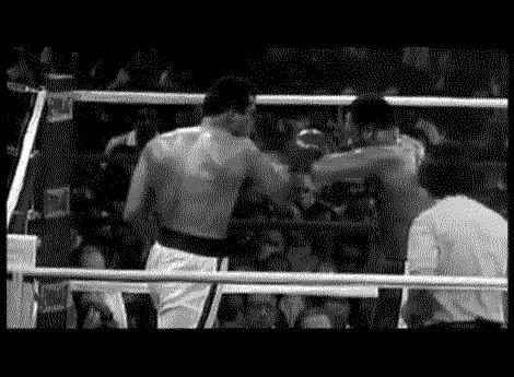 Бой прошлого столетия Бокс, Мохаммед Али, Джо Фрейзер, Гифка, Длиннопост