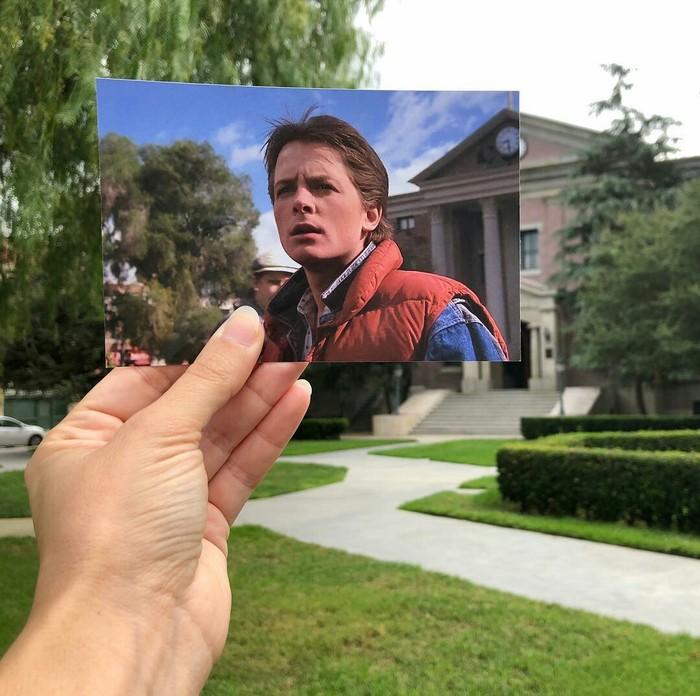 """Места из фильма """"назад в будущее"""" тогда и сейчас. Назад в будущее, Фотография, Фильмы, Актеры, Ностальгия, Молодость, Воспоминания, Длиннопост"""
