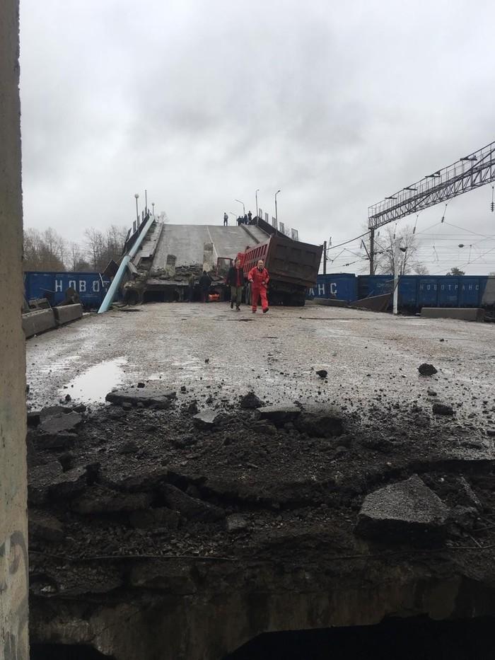 Упал мост Мост, Обрушение, Железная Дорога, Происшествие, Длиннопост, Амурская область
