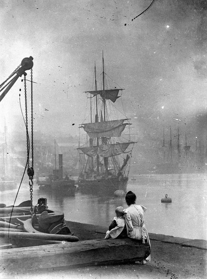 Лондон 1890 год. Лондон, Темза, Ретро, История, Англия, Корабль, Река