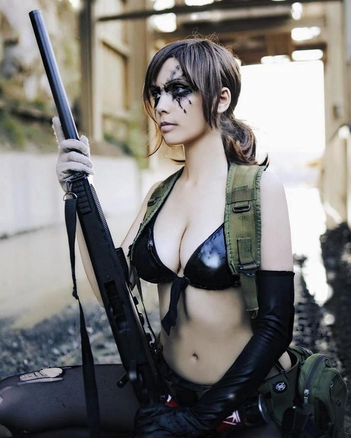CosplayQuiet (Metal Gear Solid) [@kallisi] Metal Gear Solid, Quiet, Косплей, Сиськи, Длиннопост