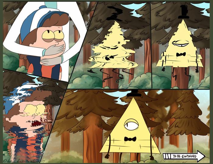 Риканутый Гравити Фолз Gravity Falls, Рик и морти, Комиксы, Bill Cipher, Dipper Pines, Рик Санчез, Морти Смит, Длиннопост