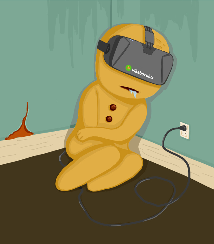 Печенька Pikabu Печенька, Моё, Арт, Дополненная реальность, Oculus Rift, Скетч