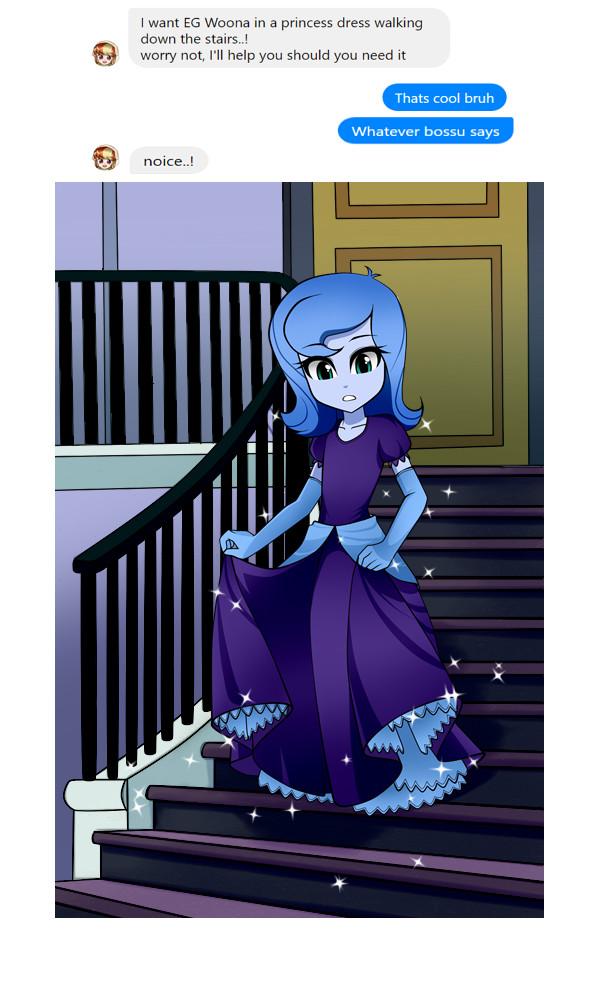 Woona Decends..! My Little Pony, Equestria Girls, Princess Luna, Woona, NekoJackun