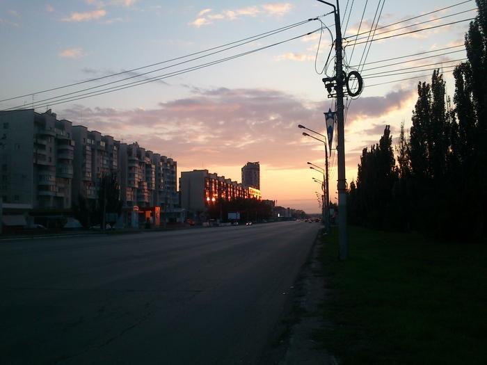 Городское небо Солнце, Закат, Небо, Город, Фотография, Длиннопост