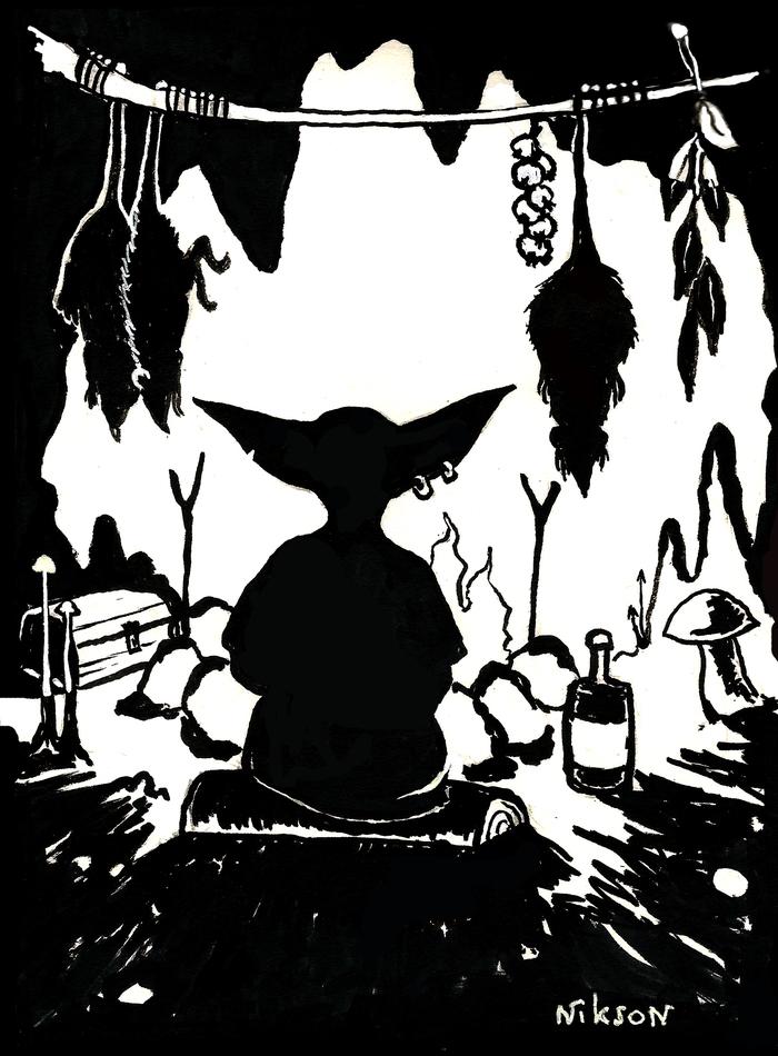 Гоблин из ТES Гоблин, The Elder Scrolls, Tes 4, The Elder Scrolls IV: Oblivion, Inktober, Рисунок, Арт