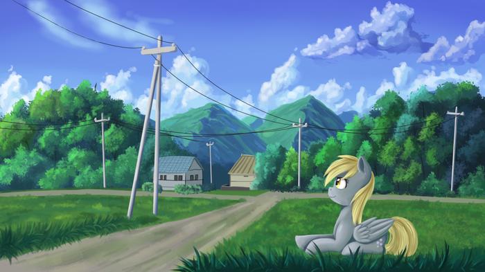 Зелёные холмы и голубое небо My Little Pony, Derpy Hooves