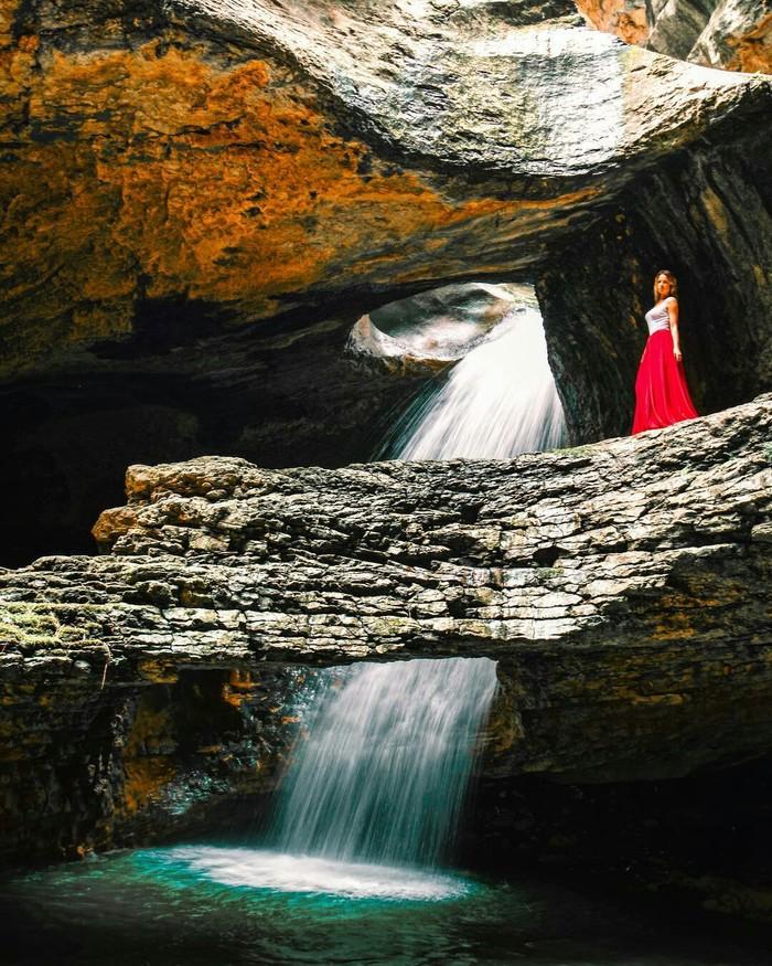 Салтинский водопад, республика Дагестан.