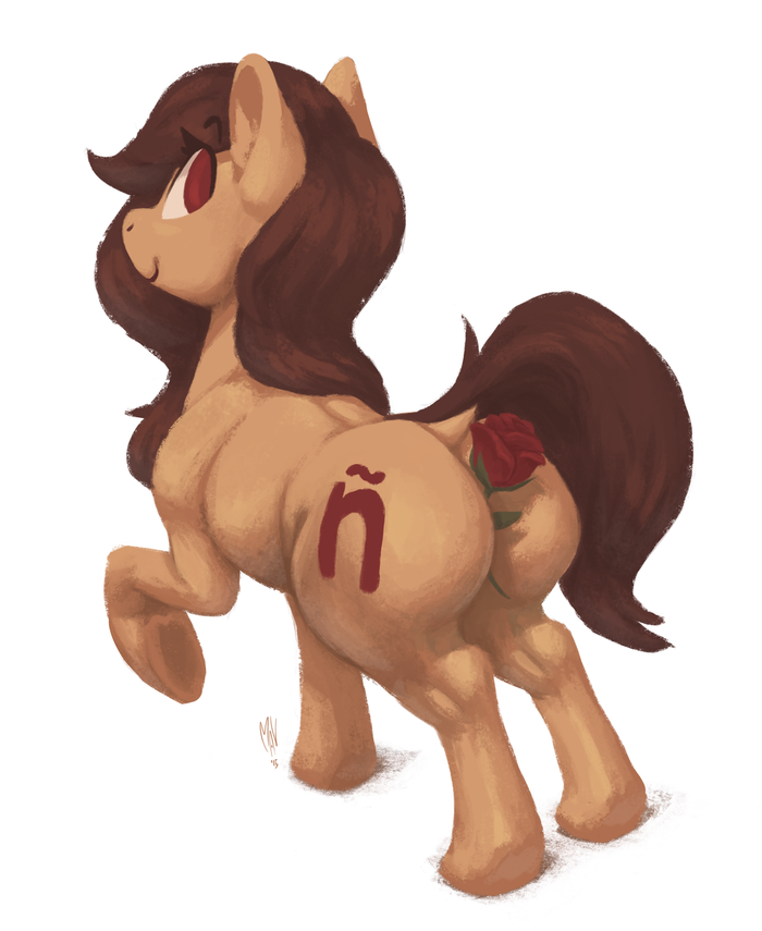 Анон, у меня в попе что-то колет. My Little Pony, Original Character, PonyArt, Роза, MLP Edge