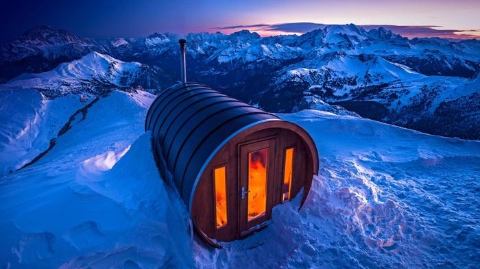 Сауна в Альпах.