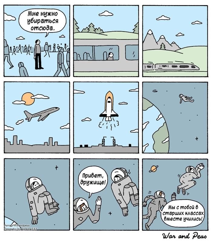 Бежать некуда Комиксы, War and Peas, Перевел сам
