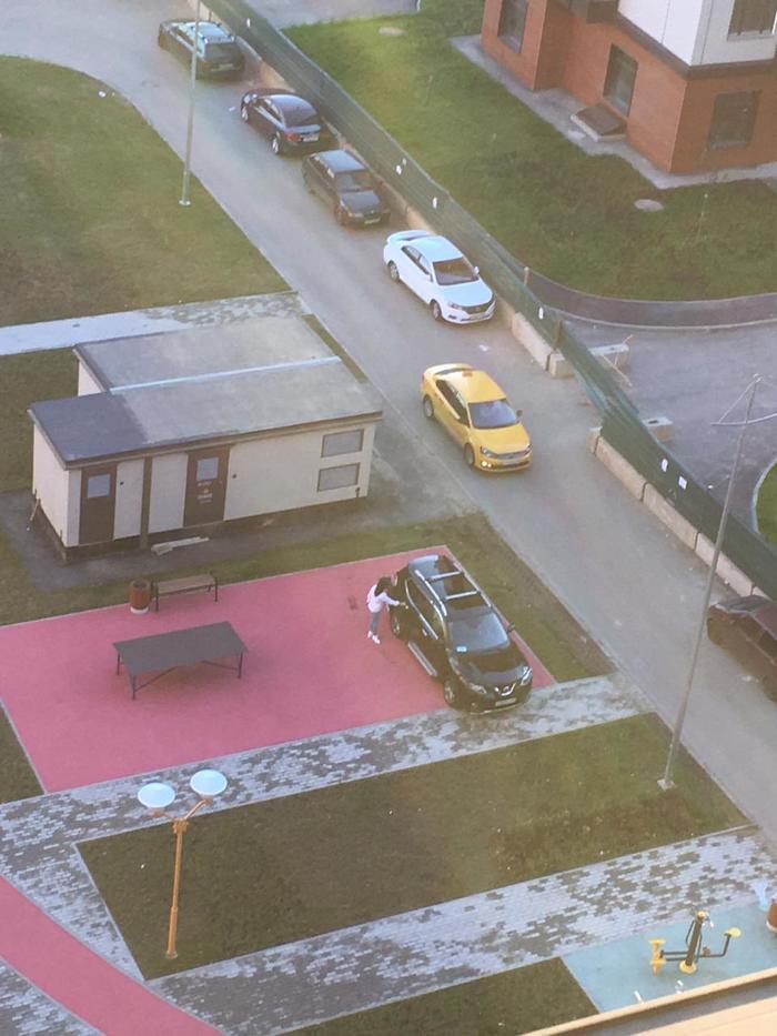 В нашем доме появился уважаемый сосед Неправильная парковка, Авто, Быдло, Длиннопост, Негатив, Соседи