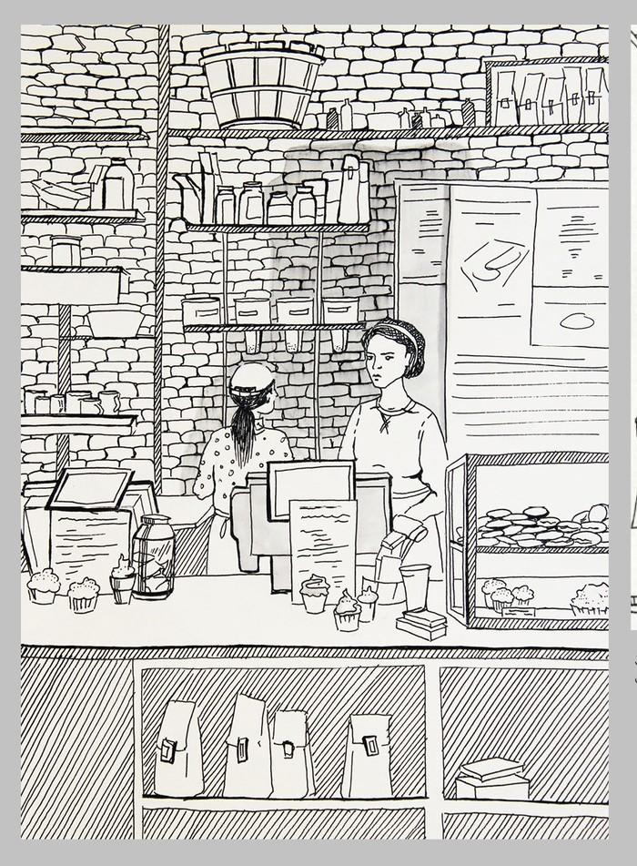 Вдохновение в кофейне Вдохновение, Кофе, Люди, Рисунок, Творчество, Художник, Длиннопост