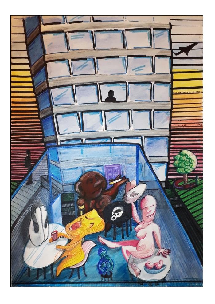 Увидела сон - пытайся в сюрреализм. Искусство, Сюрреализм, Акварельные карандаши, Маркер, Линер, Фантазия, Сон, Графика