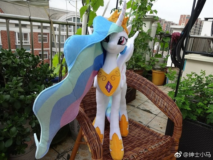 Принцесса (стоит (многа)) My Little Pony, Princess Celestia, Плюшка, Мягкая игрушка