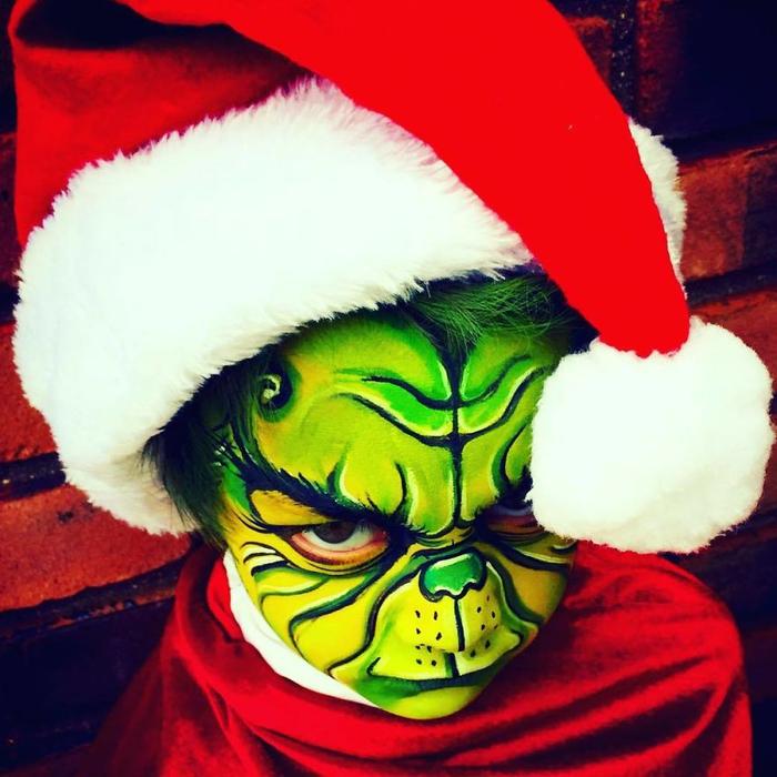 Художница разрисовывает детей на Хеллоуин Дети, Рисунок, Длиннопост