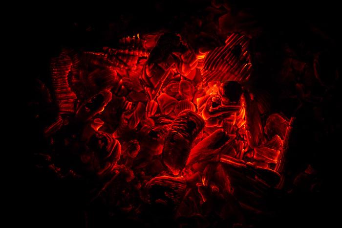 Летняя ночь. Картоха в углях. Фотография, Лето, Поход, Картофель