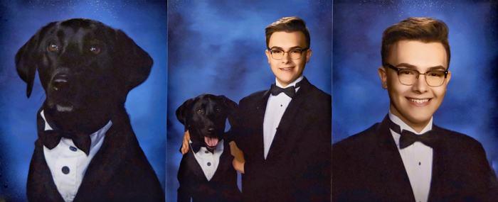 """""""Я со своей служебной собакой в выпускном альбоме"""""""