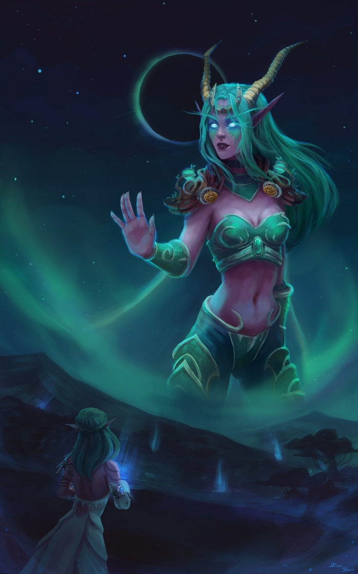 Изера byМилена Васюкова. WOW, World of Warcraft, Warcraft, Blizzard, Game art, Арт, Творчество