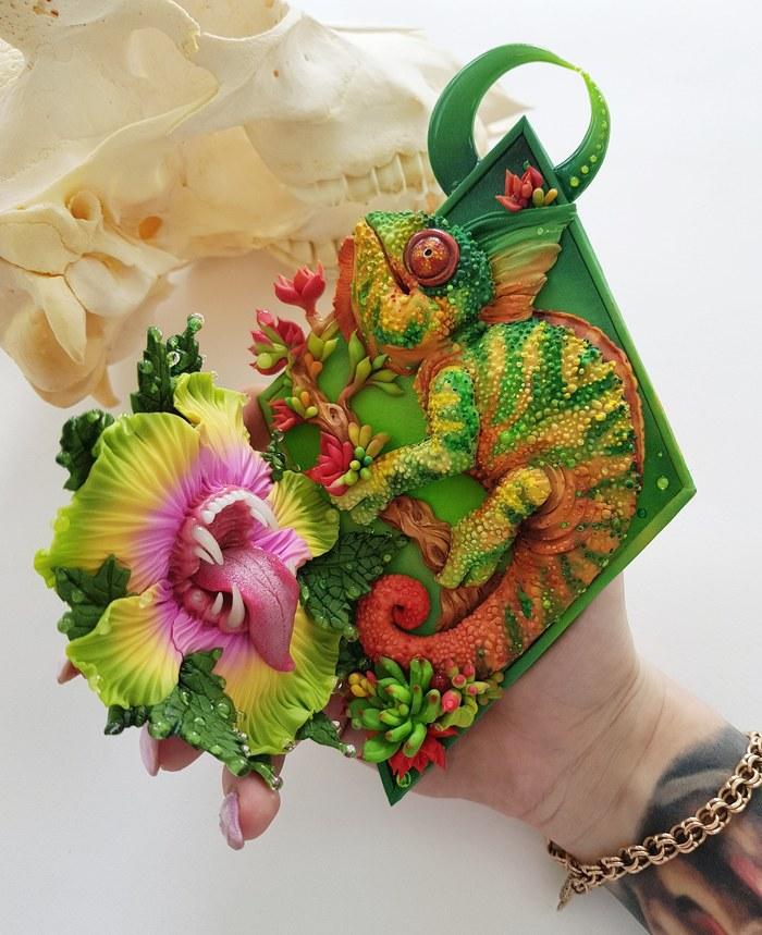Зеленая фауна из полимерной глины! Полимерная глина, Рукоделие без процесса, Животные, Творчество, Идея
