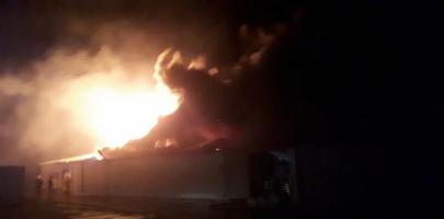 В Краснодаре на площади 2500 кв. метров горят склады Пожар, Краснодар, Негатив